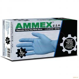 AMMEX 爱马斯一次性丁腈手套小号(耐用加厚型)