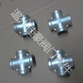 精品不锈钢内螺纹丝扣4分变3分铸造白化异径变径四通管件
