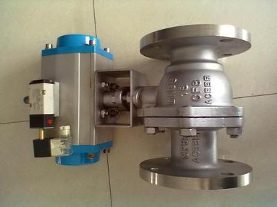 进口气动不锈钢球阀,Q641F,气动法兰球阀