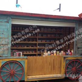 合肥公园仿古售货亭 南京步行街售货亭 景区复古移动售货车
