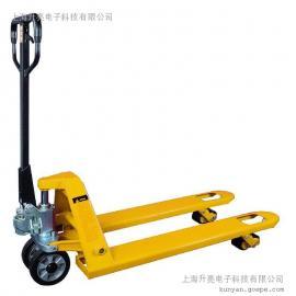 上海升亮手动液压搬运车电子秤