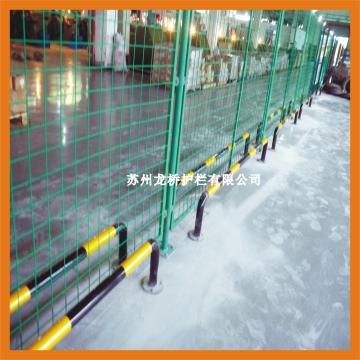 苏州高档车间防撞栏杆 高质量厂区U型防撞护栏 龙桥厂家直销