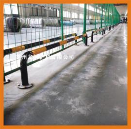 苏州厂区防撞栏杆 广场防撞栏杆镀锌钢管表面静电喷涂烤漆处理