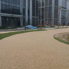 胶粘石地坪|胶粘石透水地坪|彩色胶粘石透水地坪