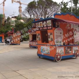 辽宁凤城流动售货车 凌海实木售货车 公园步行街售货车