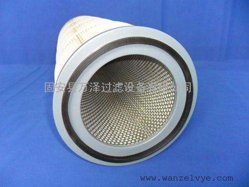 白色集尘机粉尘滤筒 防爆聚酯纤维粉尘滤筒