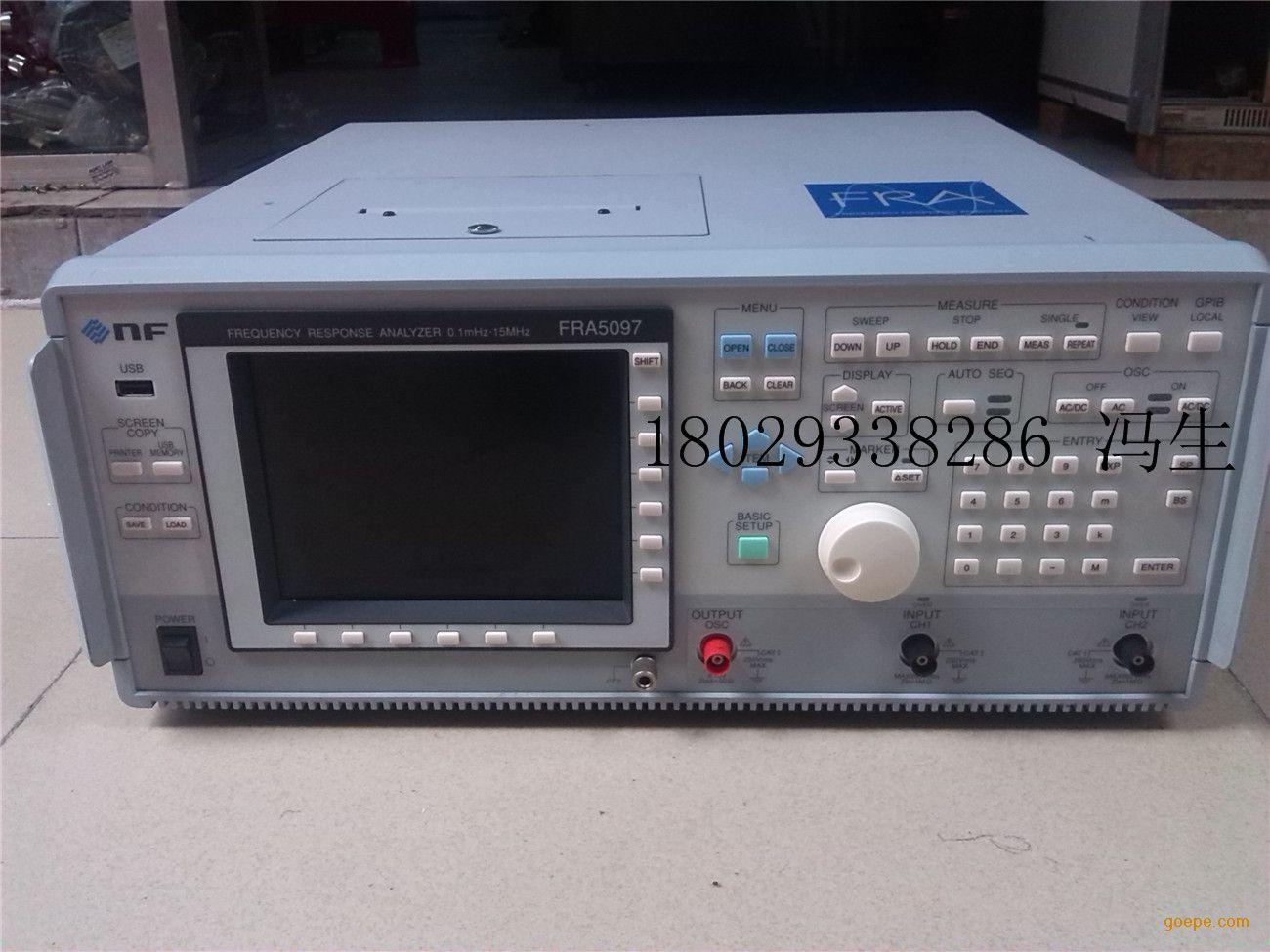 描述 NF fra5097 0.1MHz 15MHz,高精度、多功能的频率响应分析仪 这是一种fra5097 0.1兆赫到15兆赫频率的频率响应分析仪测量,非常适合生产线有一个苗条的节省空间的设计,易于操作。利用傅里叶积分法,FRA在消噪方面高度的精确测量。 NF的频率响应分析仪利用出色的噪声消除的傅里叶变换特征准确地测量频率响应特性。浮动输入电路和自动量程功能不断优化的输入范围。频率响应分析仪允许快速,动态变化的频率响应,无需关心输入信号电平或被测试设备的同时仍然是操作简单地电位高度的精确测量。从伺服系