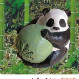景区公共广播系统熊猫型草坪音箱草地喇叭