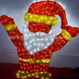 厂家定制亚克力拉丝造型灯,圣诞老人造型灯,亚克力造型灯