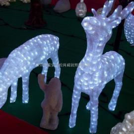 圣诞鹿造型灯 3D滴塑鹿子拉车造型灯 LED动物滴胶造型灯