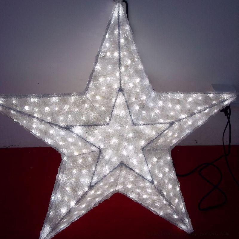 五角星圣诞造型灯 滴胶造型灯 3D动物造型灯圣诞系列