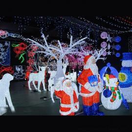 滴胶3D造型灯 LED圣诞老人动物造型灯 国外亮化工程案例