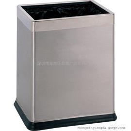 双层方形酒店宾馆KTV客房垃圾桶 家用房间垃圾桶 不锈钢垃圾桶