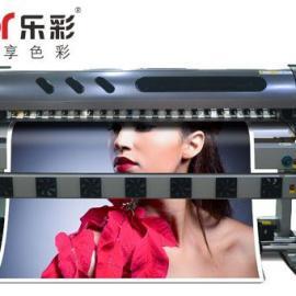 乐彩双头压电写真机支持车贴墙纸高速度高精度打印