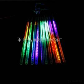 节日装饰七彩LED流星灯管/美化装饰灯