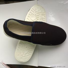 防静电中巾鞋单鞋无尘鞋工鞋橡胶底底帆布面无尘室净化鞋