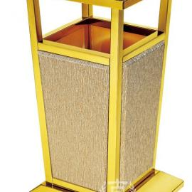 黑金钢烟灰桶 酒店大堂烟灰缸垃圾桶 不锈钢钛金立式垃圾桶 南方