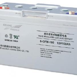 科华蓄电池6-GFM-100,12V,100AH铅酸免维护