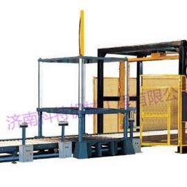 RP1800F-PL全自动悬臂在线式缠绕包装机,自动上断膜