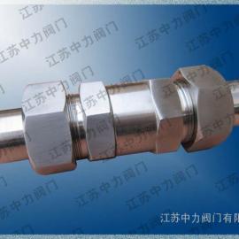 厂家直销ZLZW02P进口高压不锈钢卡套式阻火器