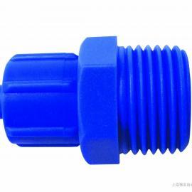 锁紧螺母式快速接头 塑料锁紧接头TC8-02