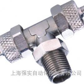 T型三通外螺纹接头 进口支管外牙接头