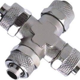 快速锁紧螺母接头 十字四通管接管