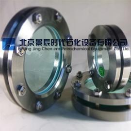 压力容器用圆形钢化玻璃视镜 不锈钢圆形法兰视镜北京厂家