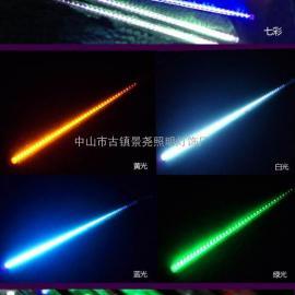建筑�怯钜咕�LED七彩流星�舸�/美化景�^��