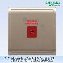 施耐德报警开关 开关插座面板 丰尚白色系列E8231KPB