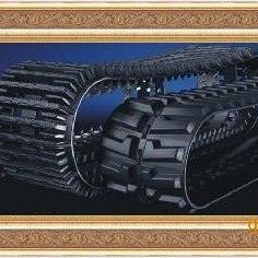 挖掘机底盘件橡胶链条