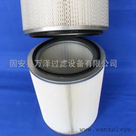 钻机集尘器除尘滤芯高精度滤筒 万泽新品覆膜滤筒定做