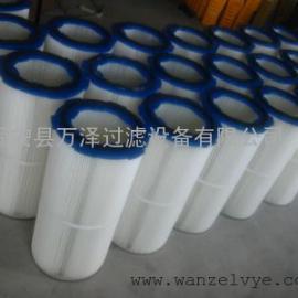 万泽供应PTFE覆膜除尘滤芯进口滤材滤筒
