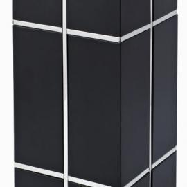 广州不锈钢烤漆方形垃圾桶 酒店电梯口果皮桶 写字楼走廊烟灰桶