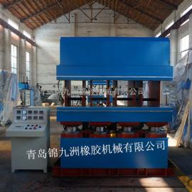 收割机履带接头热压硫化机青岛全自动长形鄂式硫化机