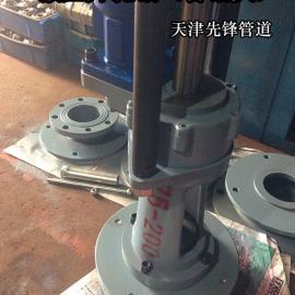 自来水燃气管道开孔液压带压开孔钻机ZY300