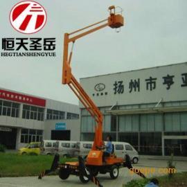 武汉曲臂式升降平台,液压升降机、高空作业车16米