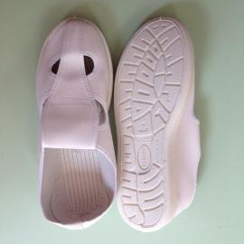 防静电鞋厂家 柔软舒适SPU底皮革四眼鞋