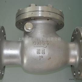 上海风雷厂家直供焊接不锈钢旋启式H44H止回阀,品质保证