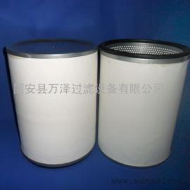 万泽供应真空泵油雾收集滤芯进口玻纤缠裹
