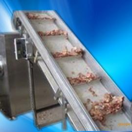 食品爬坡式输送带,食品斜坡提升机,不锈钢提升机订制