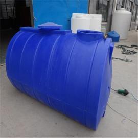 专业生产卧式运输水箱,2立方环保药剂运输罐价格,PE桶