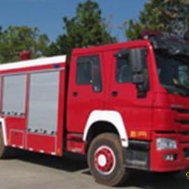 重汽豪沃单桥8吨泡沫消防车、救火车