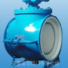 安徽富日供应DYQ340H上装式偏心半球阀 大口径偏心球阀