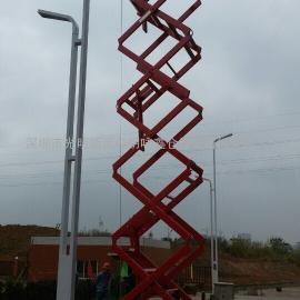 双人12米高空作业平台的深圳剪叉式升降机