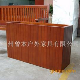木花盆 碳化木花箱 木花箱 花槽 花架 户外花箱