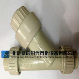 PP过滤器厂家 PP管道式Y过滤器 塑料PP-Y型过滤器