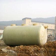 地埋式玻璃钢化粪池原理结构图