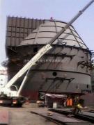 南通电厂脱硫塔提升施工现场