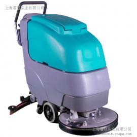 进口品质手推式洗地机 超市 工厂 车库环氧地面用电动洗地机